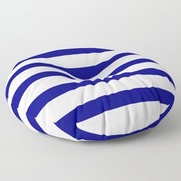 Blue Navy and White Stripes Floor Pillow