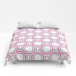 Pink Harmony in Symmetry Comforters