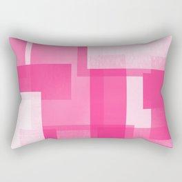 Modern Abstract No. 23   Fucshia Rectangular Pillow