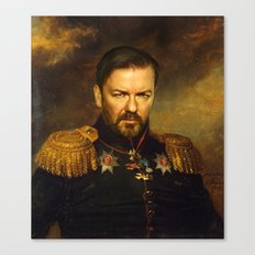 Ricky Gervais - replaceface Canvas Print
