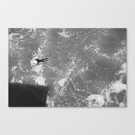 Lonely Paddler Canvas Print