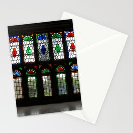 Stained Glass Windows and Doors Qavam House, Shiraz, Persia, Iran Stationery Cards