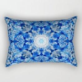 Aqua Crystal Mandala Rectangular Pillow