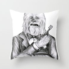 Wookie 007 Throw Pillow