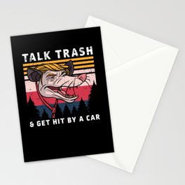 Anti-Trump Opossum Talk Shit and get Hit by a Car Stationery Cards