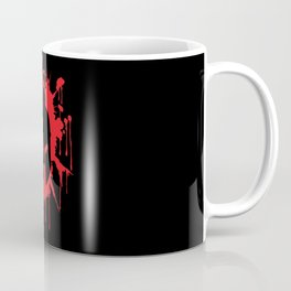 Spartan Helmet in Bloodstain | Warrior Workout Coffee Mug