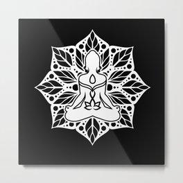 Yoga Lotus Flower Meditation Relaxation Yoga Metal Print