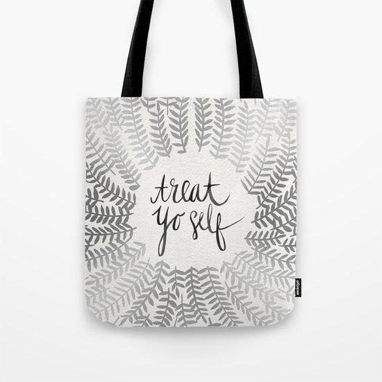 Treat Yo Self – Silver Tote Bag
