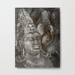 Statue at the entrance of The Polonnaruwa Vatadage Metal Print