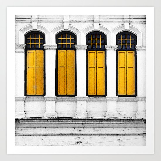 Open Thy Yellow Windows Art Print