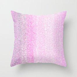 Modern Abstract Pink Geometrical Gradient  Throw Pillow