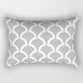 Classic Fan or Scallop Pattern 452 Gray Rectangular Pillow