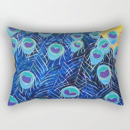 Peacock - Brave Rectangular Pillow