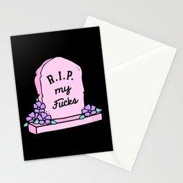 R.I.P. My Fucks Stationery Cards