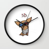 3d Wall Clocks featuring 3D by Susana Miranda ilustración