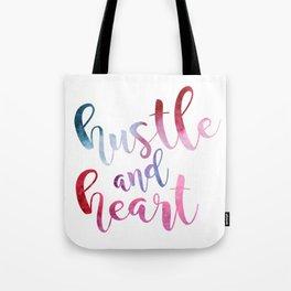 hustle and heart Tote Bag