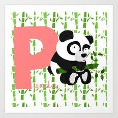 p for panda Art Print