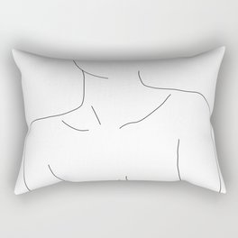 Neckline collar bones drawing - Erin Rectangular Pillow
