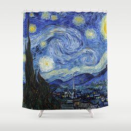 Starry Night by Vincent Van Gogh Shower Curtain