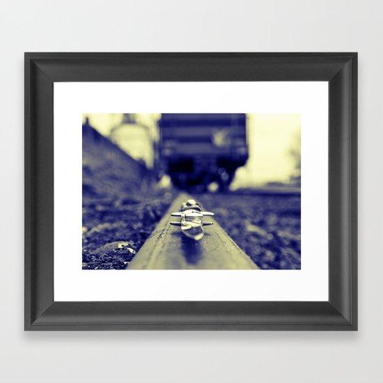 Switchblade blurism Framed Art Print