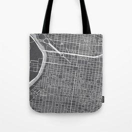 Center City Philadelphia Map Tote Bag