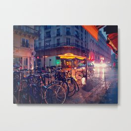 Rainy street Metal Print