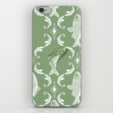 In which a fish frees itself (green option) iPhone & iPod Skin
