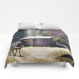 A Little Mountain Paradise Comforters