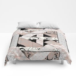 Patchwork pattern. Comforters