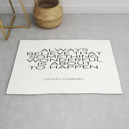 Always Believe That Something Wonderful Is About To Happen, Home Decor,Wall Art Rug