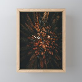 red forest in north america Framed Mini Art Print