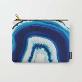 Blue Agate Geode Slice Carry-All Pouch