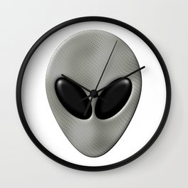 Alien Face With White Scales Wall Clock