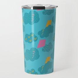 kites - blue Travel Mug