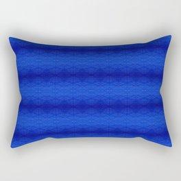 Blue Tiki Pattern Rectangular Pillow
