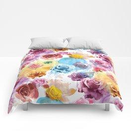 Watercolor Roses Comforters