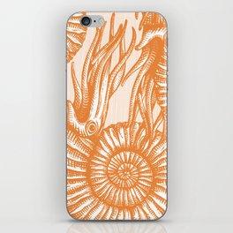 AMMONITE COLLECTION ORANGE iPhone Skin