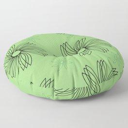 Green Spinning Pinwheel Floor Pillow