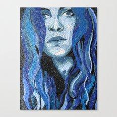 Of Water - Monochromatic Mosaic Canvas Print