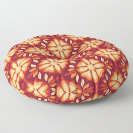 Swiss Chalet - Mulled Wine (pattern) Floor Pillow