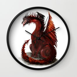 Challenger Lone Dragon Abstract Wall Clock