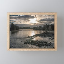 River in the morning light Framed Mini Art Print