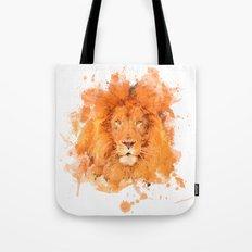 Splatter Lion Tote Bag