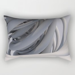 White Spiral Rectangular Pillow