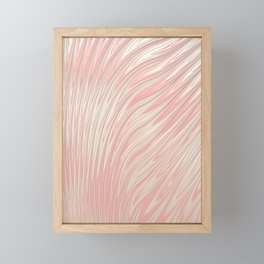 FLUSH soft pink blush flames with ivory lustre highlights Framed Mini Art Print