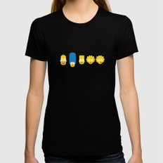 The Simpsons Black Womens Fitted Tee SMALL