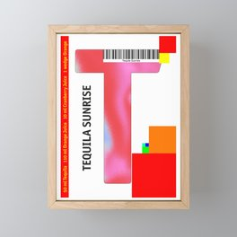 "Cocktail ""T"" - Tequila Sunrise Framed Mini Art Print"