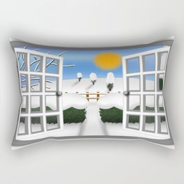 A Winters View Rectangular Pillow