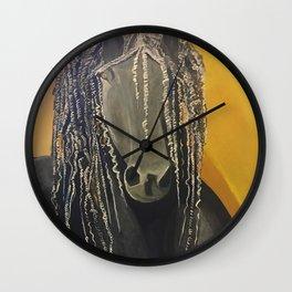 Yellow Horse Wall Clock