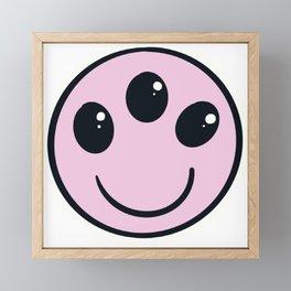 Weird Smiley Framed Mini Art Print